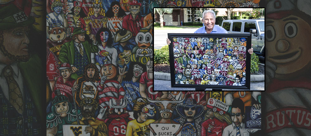 Thomas Jordan Gallery -- Who's #1 Painting with Lee Corso