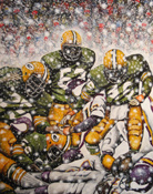 Frozen Tundra -- Sports Painting