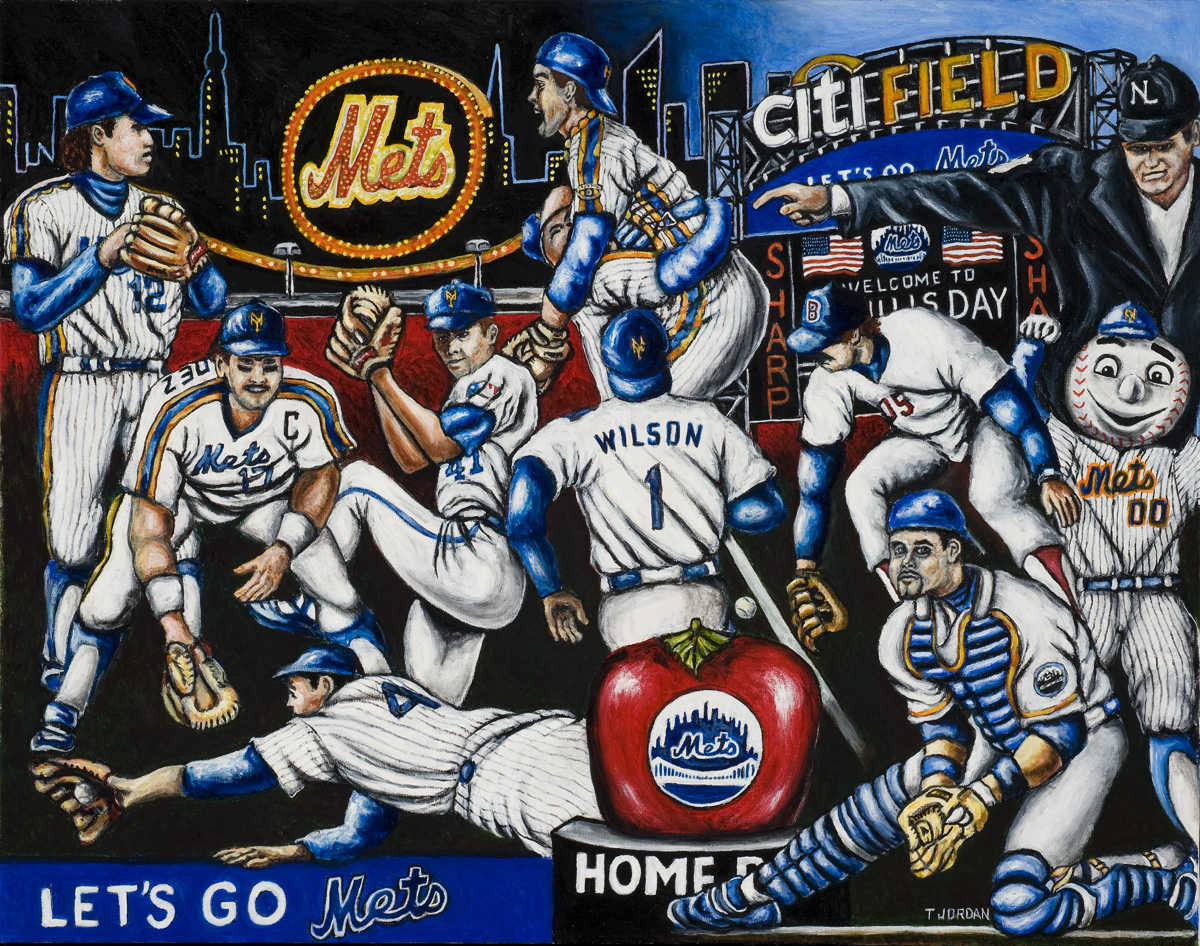 Mets -- Sports Painting