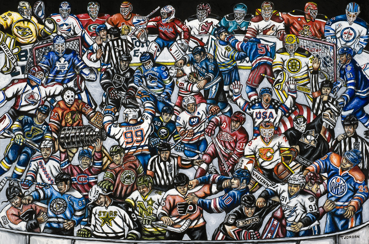 The Puck Stops Here -- Sports Painting