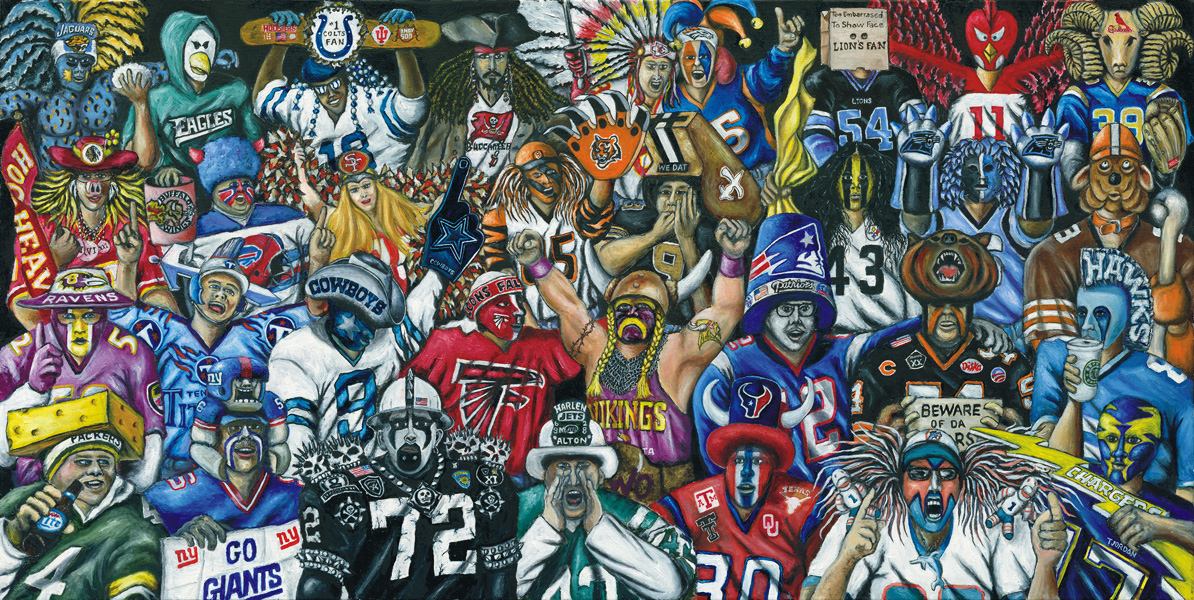 True Believers -- Sports Painting