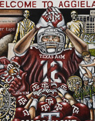 Welcome to Aggieland -- Sports Painting