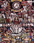 Alabama Tribute -- Sports Painting