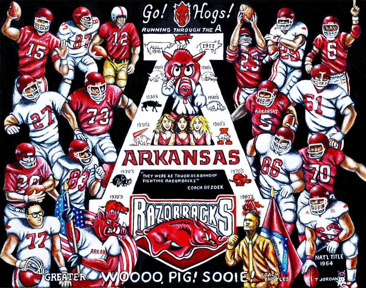 Arkansas Tribute -- Sports Painting