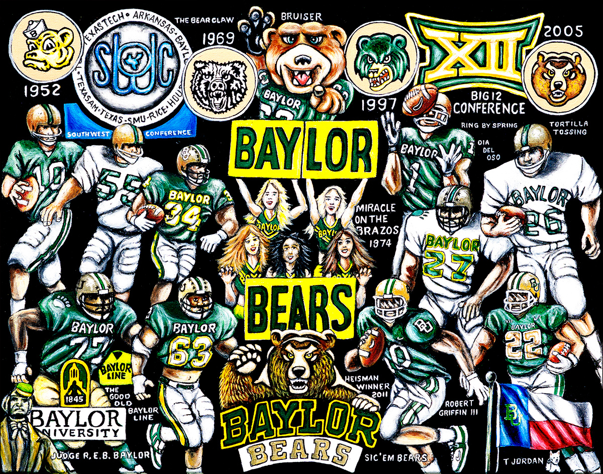 Baylor Tribute -- Sports Painting