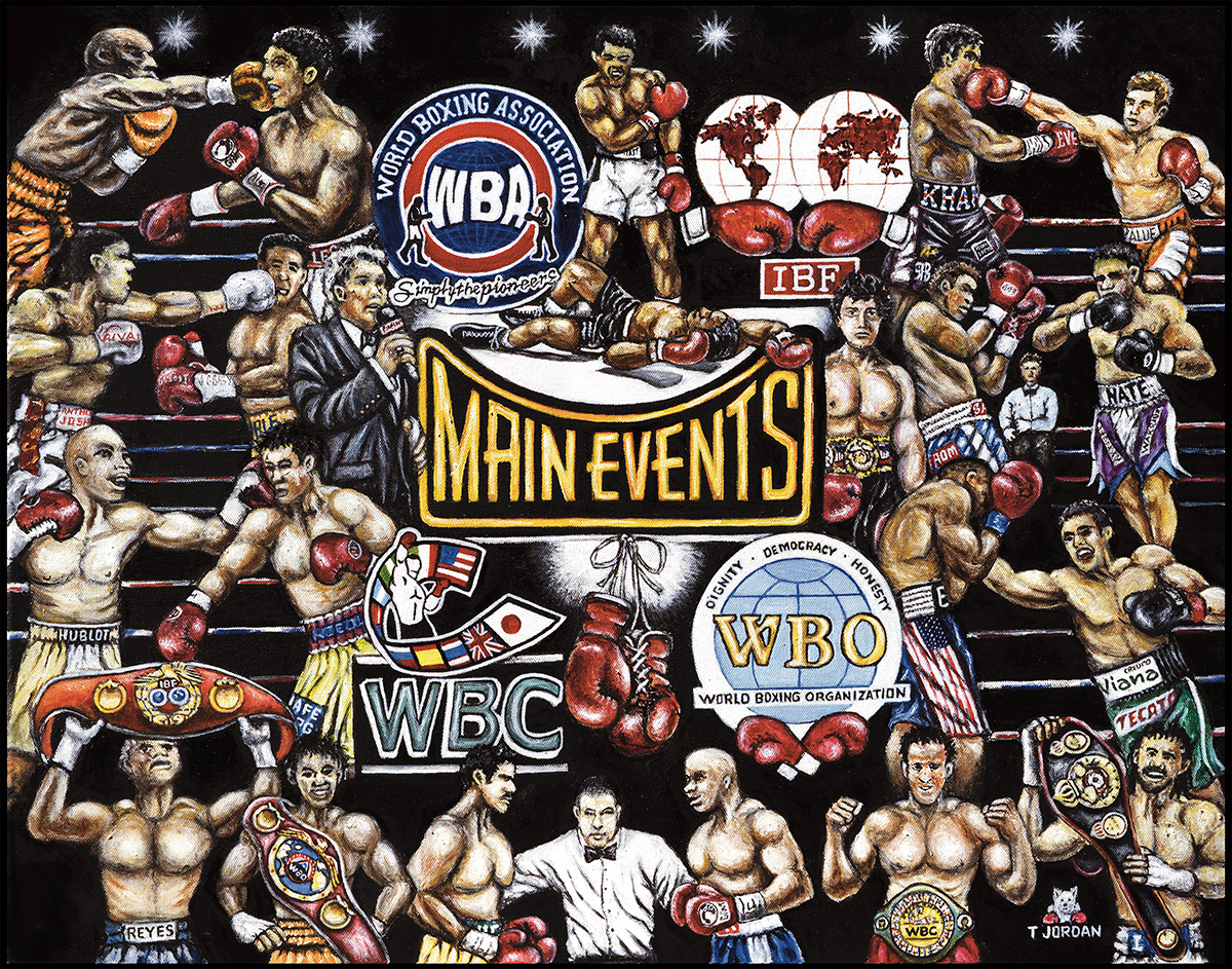 Main Events Boxing Tribute -- Sports Painting