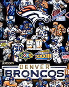 Broncos Tribute -- Sports Painting