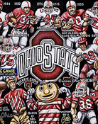 Ohio State Buckeyes Tribute -- Sports Painting