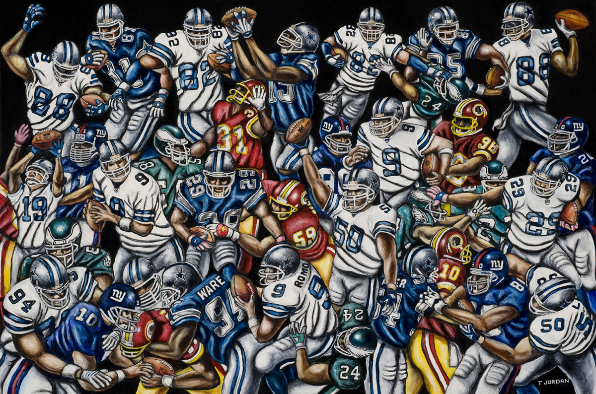 Cowboys, Future Champs -- Sports Painting
