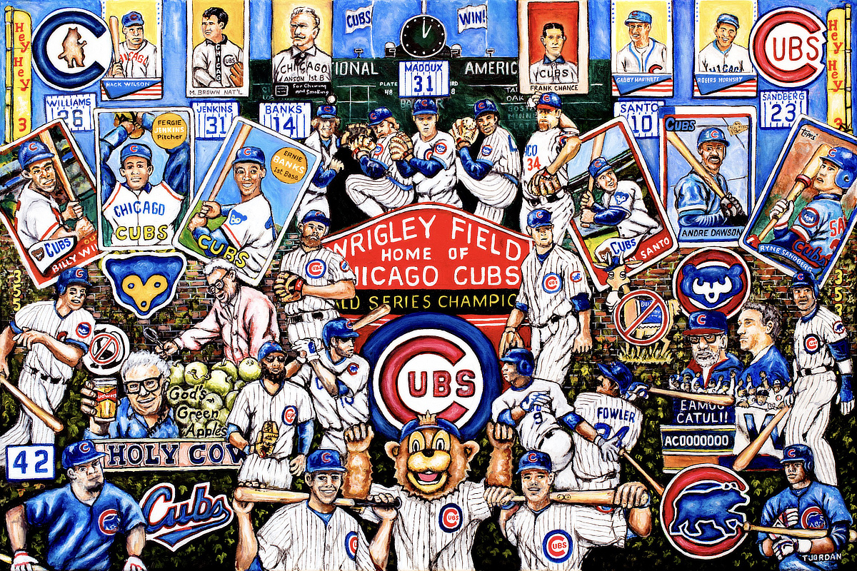 Cubs Tribute -- Sports Painting