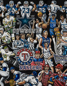 Dallas Tribute -- Sports Painting