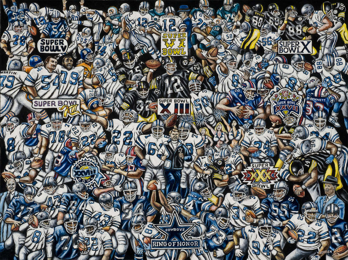 Dallas Cowboys Tribute -- Sports Painting