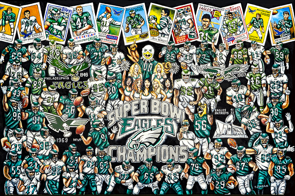 Eagles Tribute -- Sports Painting