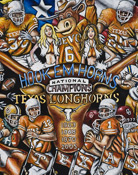 Hook Em Horns -- Sports Painting