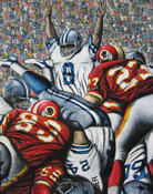 Cowboys And Indians -- Sports Painting