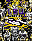 Louisiana State Tigers Tribute -- Sports Painting