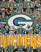 Packers Tribute -- Sports Painting