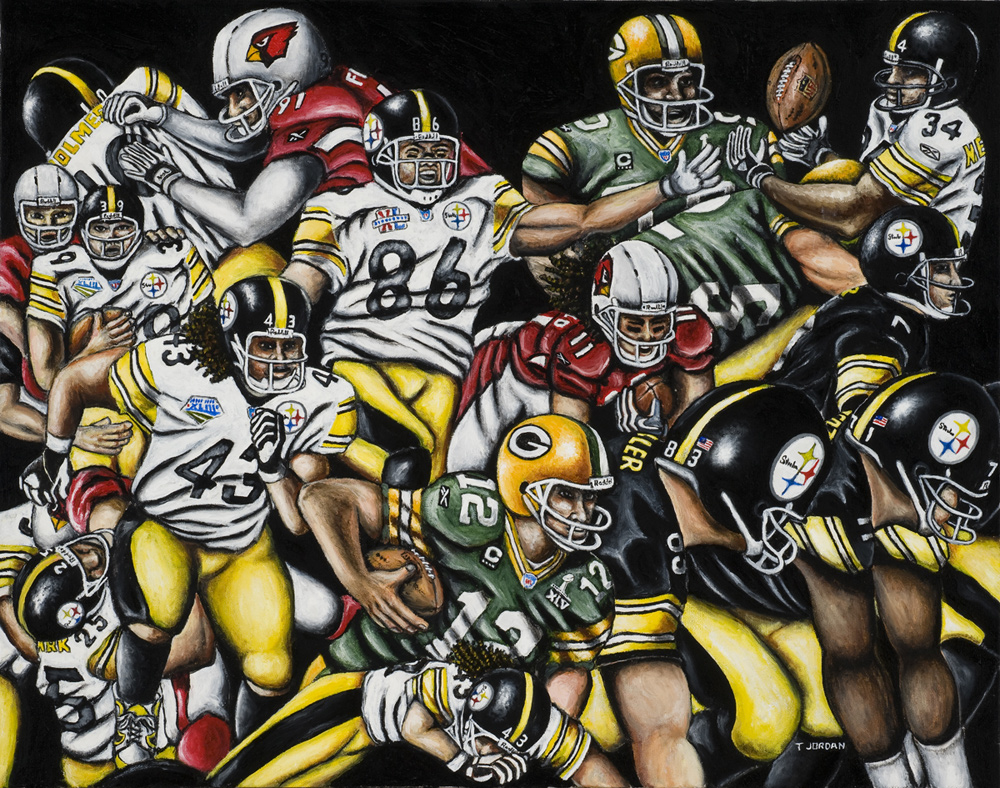 Super Steelers -- Sports Painting