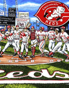 A 12 Pack of Reds -- Sports Painting