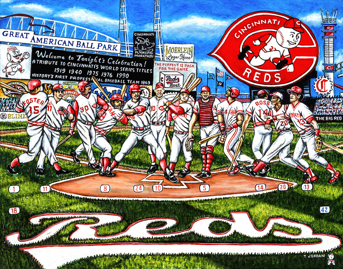 Cincinnati Reds Tribute -- Sports Painting