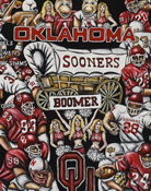 Sooners Tribute -- Sports Painting