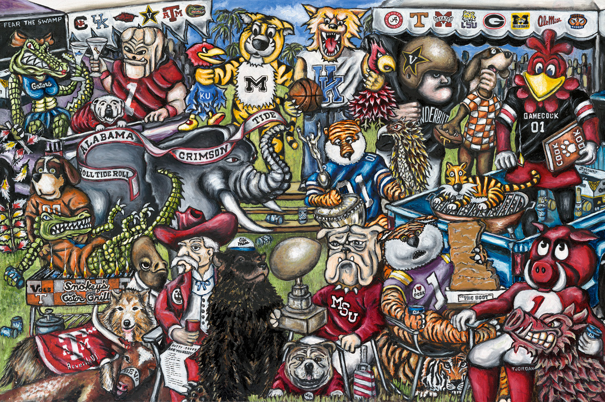 Tailgate Party -- Sports Painting