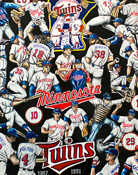 Twins Tribute -- Sports Painting