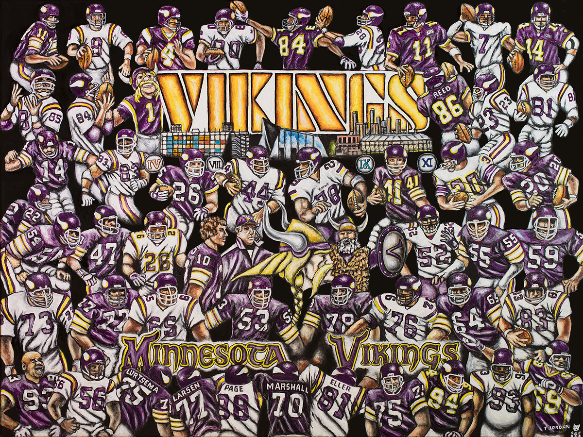 Vikings Tribute -- Sports Painting