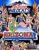 Arizona Wildcats Tribute -- Sports Painting
