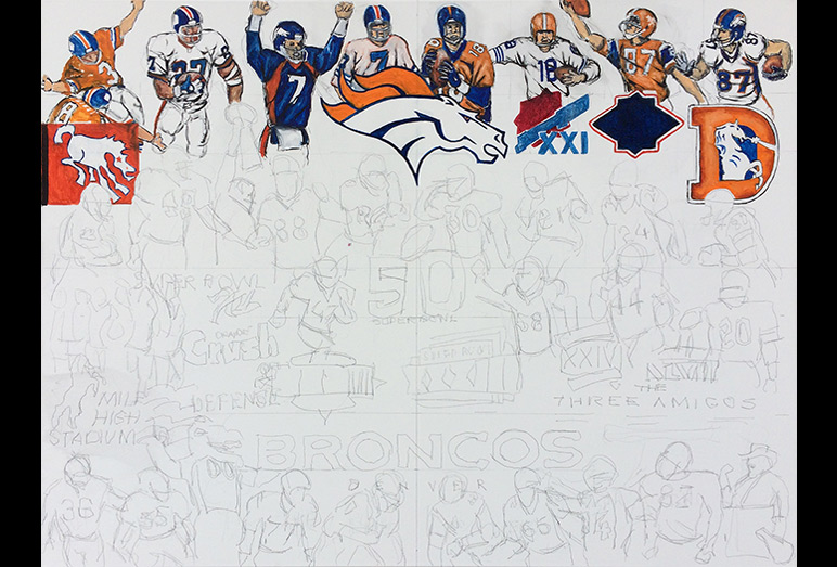 Thomas Jordan Gallery -- Broncos Tribute