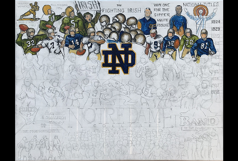 Thomas Jordan Gallery -- Notre Dame Tribute