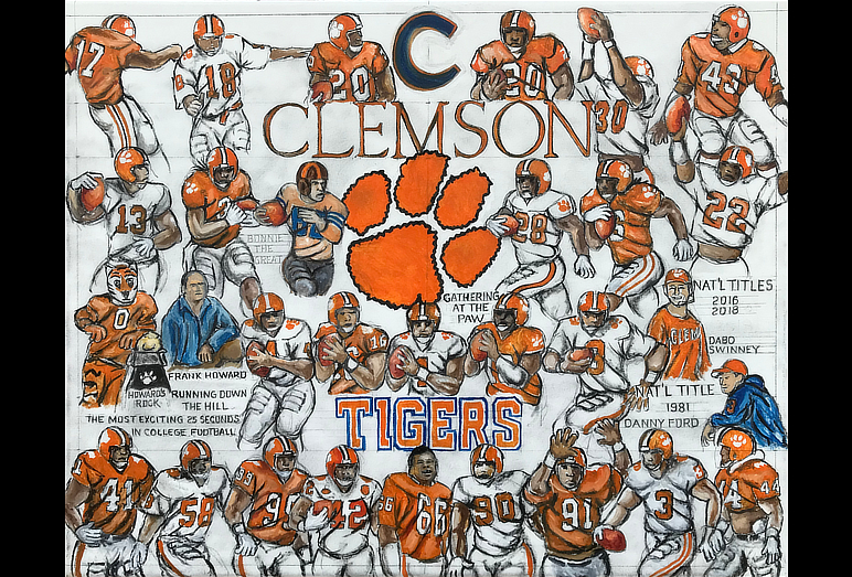 Thomas Jordan Gallery -- Clemson Tigers Tribute