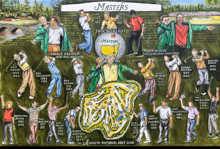 Thomas Jordan Gallery -- The Masters Tribute