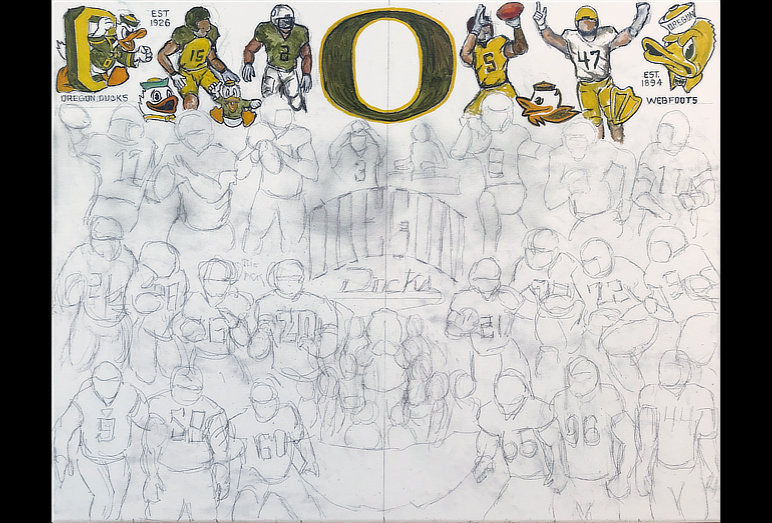 Thomas Jordan Gallery -- Oregon Ducks Tribute