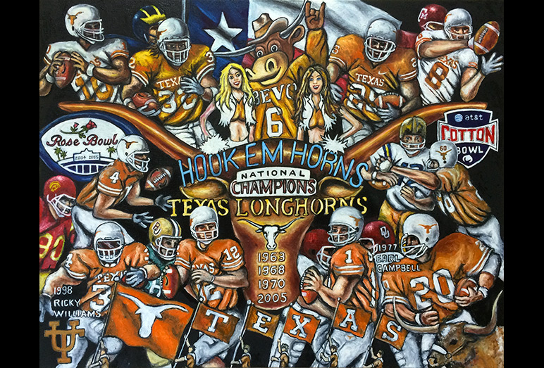 Thomas Jordan Gallery -- Hook Em Horns